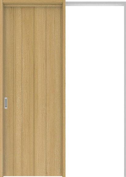 ハピアプレミア 吊戸・引込 0Sデザイン扉セット 2300高 1645幅 オーク柄(ライトオーカー) 大建工業の建具