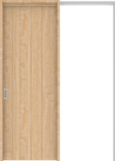 ハピアプレミア 吊戸・引込 0Sデザイン扉セット 2300高 1645幅 メープル柄(ミルベージュ) 大建工業の建具