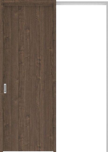 ハピアプレミア 吊戸・引込 0Sデザイン扉セット 2300高 1645幅 ウォールナット柄(ダルブラウン) 大建工業の建具