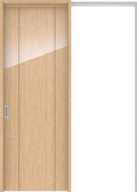 ハピアプレミア 吊戸・引込 1Pデザイン扉セット 2300高 1645幅 メープル柄(ミルベージュ) 大建工業の建具