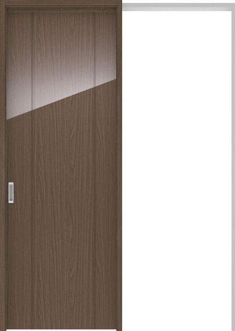 ハピアプレミア 吊戸・引込 1Pデザイン扉セット 2300高 1645幅 ウォールナット柄(ダルブラウン) 大建工業の建具