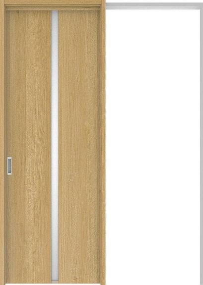 ハピアプレミア 吊戸・引込 2Pデザイン扉セット 2300高 1645幅 オーク柄(ライトオーカー) 大建工業の建具