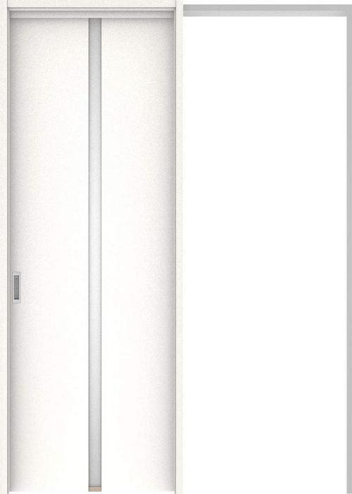 ハピアプレミア 吊戸・引込 2Pデザイン扉セット 2300高 1645幅 モノホワイト柄 大建工業の建具
