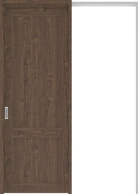 ハピアプレミア 吊戸・引込 2Sデザイン扉セット 2300高 1645幅 ウォールナット柄(ダルブラウン) 大建工業の建具