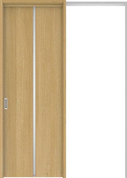 ハピアプレミア 吊戸・引込 6Pデザイン扉セット 2300高 1645幅 オーク柄(ライトオーカー) 大建工業の建具