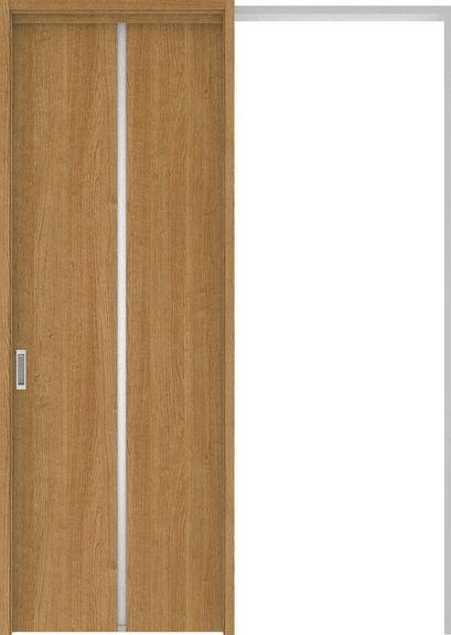 ハピアプレミア 吊戸・引込 6Pデザイン扉セット 2300高 1645幅 チェリー柄(ティーブラウン) 大建工業の建具