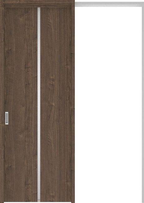 ハピアプレミア 吊戸・引込 6Pデザイン扉セット 2300高 1645幅 ウォールナット柄(ダルブラウン) 大建工業の建具