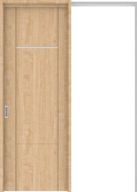 ハピアプレミア 吊戸・引込 8Pデザイン扉セット 2300高 1645幅 メープル柄(ミルベージュ) 大建工業の建具