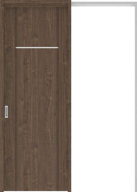 ハピアプレミア 吊戸・引込 8Pデザイン扉セット 2300高 1645幅 ウォールナット柄(ダルブラウン) 大建工業の建具
