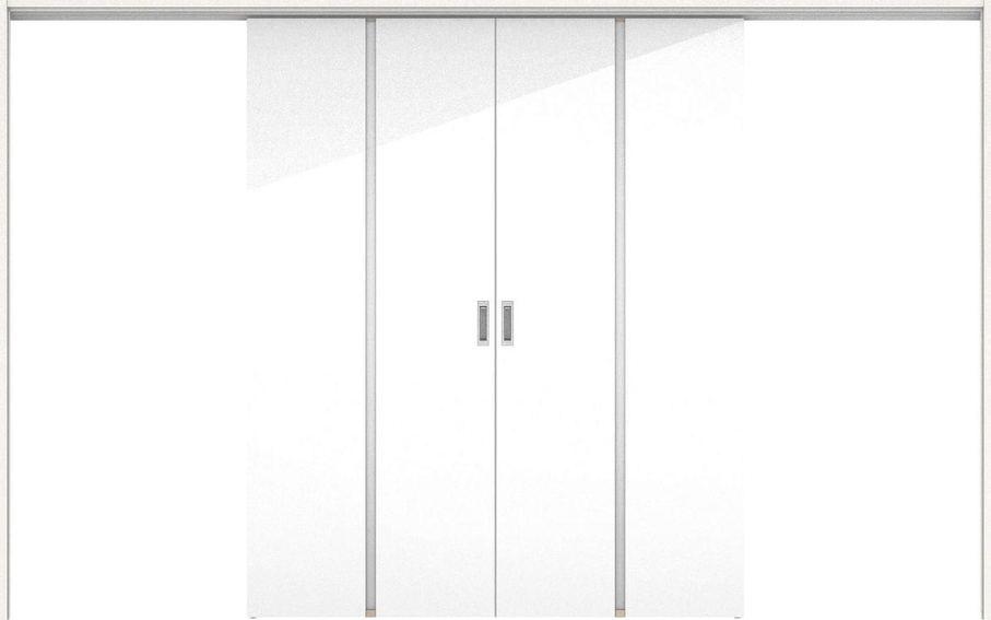 ハピアプレミア 吊戸・引分 6Pデザイン扉セット 2000高 3255幅 ルミホワイト 大建工業の建具