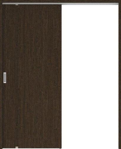 ハピアプレミア 吊戸・片引 1Cデザイン扉セット 2000高 錠なし・明かり窓なし アッシュ柄(オフブラック) 大建工業の建具