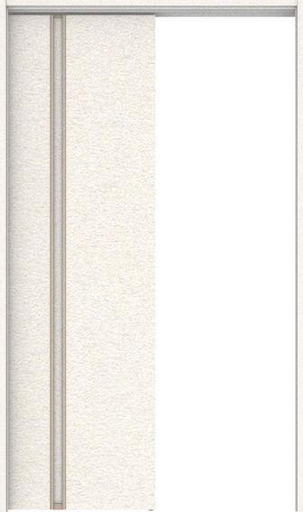 ハピアプレミア 吊戸・巾狭片引 1Cデザイン扉セット 2000高 1195幅 錠なし・明かり窓なし リアーピホワイト 大建工業の建具