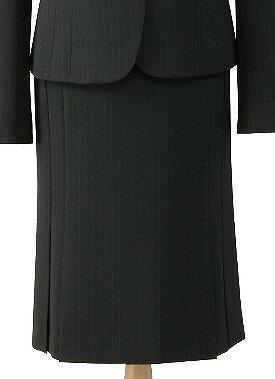 トリクシオンピンストライプブラックのスカート/cressai(セロリー)/事務服・制服におすすめ/大きいサイズあります|事務 ユニフォーム ユニホーム ビジネス オフィス 企業制服 仕事着 オフィスウェア 事務制服 スカート 制服専科