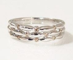 SV925 ブラウンダイヤモンド 0.14ct リング指輪 シルバー925 SILVER スターリングシルバー ダイアモンド 誕生日 4月誕生石 刻印 文字入れ メッセージ ギフト 贈り物 ピンキーリング対応可能 クリスマス xmas