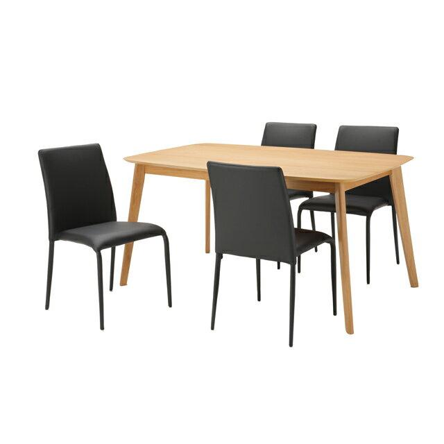 ダイニングテーブルセット ダイニング5点セット ナチュラル ブラック 黒 木製 北欧風 ダイニングセット 4人掛け 4人用 食堂セット 食卓セット カフェテーブルセット 食堂テーブルセット 食卓テーブルセット