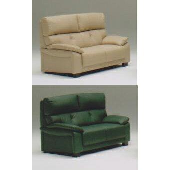 2人掛けソファー 幅140cm カフェ グリーン 緑 合皮製 モダン風 2人用ソファー 二人掛けソファー 二人用ソファー ラブソファー そふぁー ダブルソファー コンパクトソファー