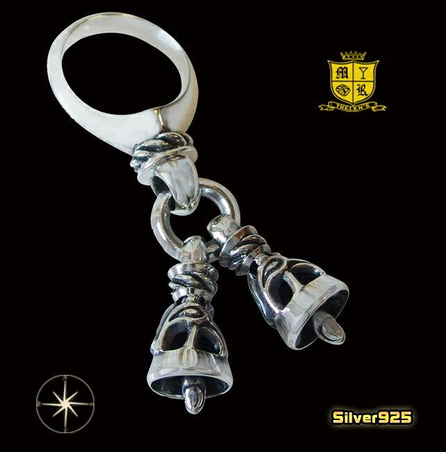 2つのベルが揺れる指輪(1)05号・07号・08号・09号・10号・11号・12号・13号・14号・15号・16号・17号・18号・19号・20号・21号・22号・23号・24号・25号/【メイン】シルバー925製指輪リング銀鈴型リング送料無料!