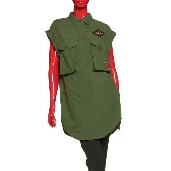 コットンボイルワッシャーミリタリーシャツ/ダブルスタンダードクロージング(DOUBLE STANDARD CLOTHING)