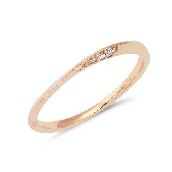 K10ピンクゴールドダイヤモンドペアリング/ブルーム(BLOOM)