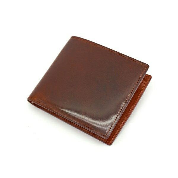 ナチュラルグレージングコードバン 二つ折り財布(小銭入れあり)/プレリーギンザ(PRAIRIE GINZA)