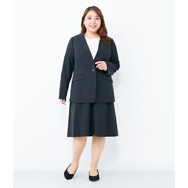 【大きいサイズ】万能!仕事着にも使える膝丈スカート/エウルキューブ(eur3)