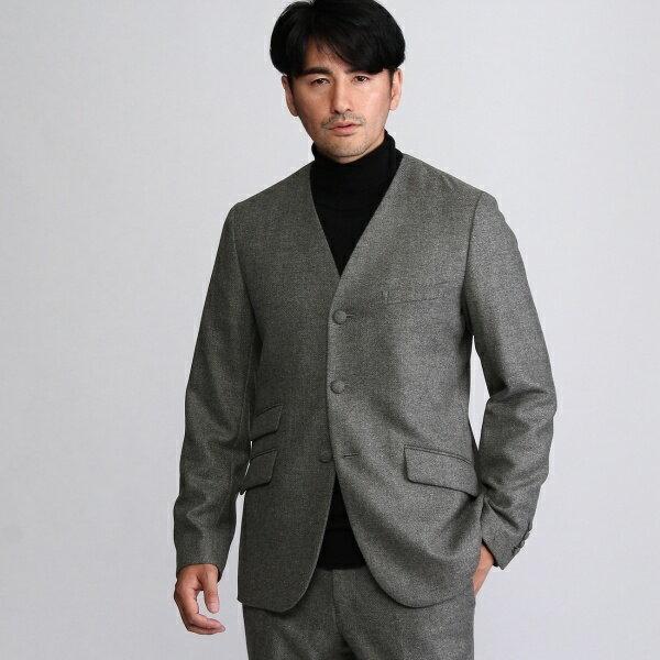 【Atelier line】ソフトツイードノーカラージャケット/タケオキクチ(TAKEO KIKUCHI)