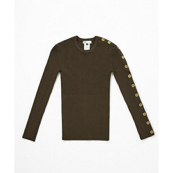 【DSC】ビスコースストレッチ ゴールドボタンリブニット/ダブルスタンダードクロージング(DOUBLE STANDARD CLOTHING)