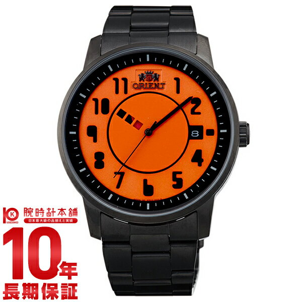 【9/15~ 3000円以上購入でポイント+3倍!】オリエント ORIENT スタイリッシュ&スマート DISK TYPOGRAPHY オレンジ WV0851ER [正規品] メンズ 腕時計 時計