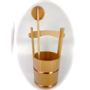 木製手桶 【今ならひしゃくもついてこの価格】 国産高級品 お墓参り お彼岸 墓