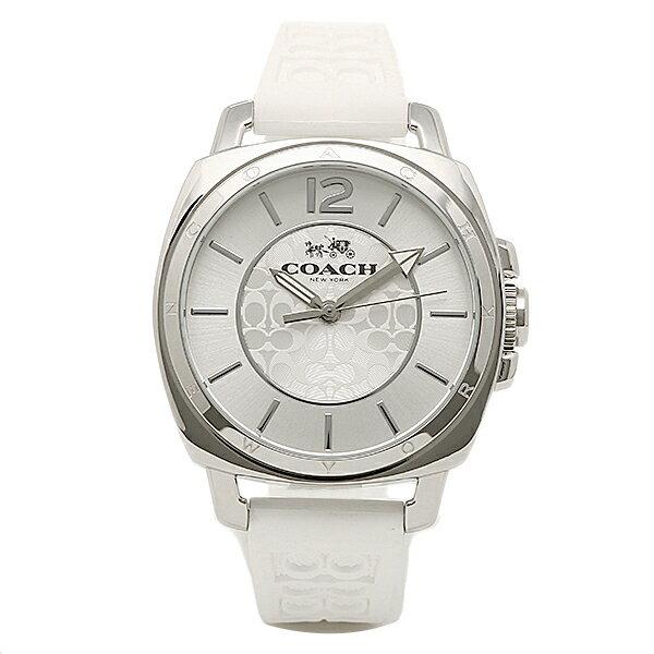 コーチ 時計 レディース COACH 14502093 BOYFRIEND MINI ボーイフレンドミニ シグネチャー 腕時計 ウォッチ シルバー/ホワイト