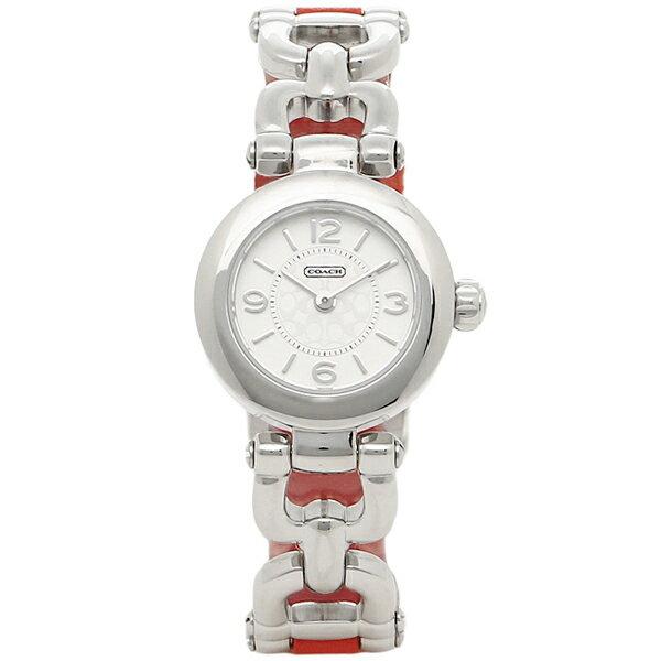 コーチ 時計 レディース COACH 14501853 WAVERLY ウェイバリー 腕時計 ウォッチ シルバー/レッド