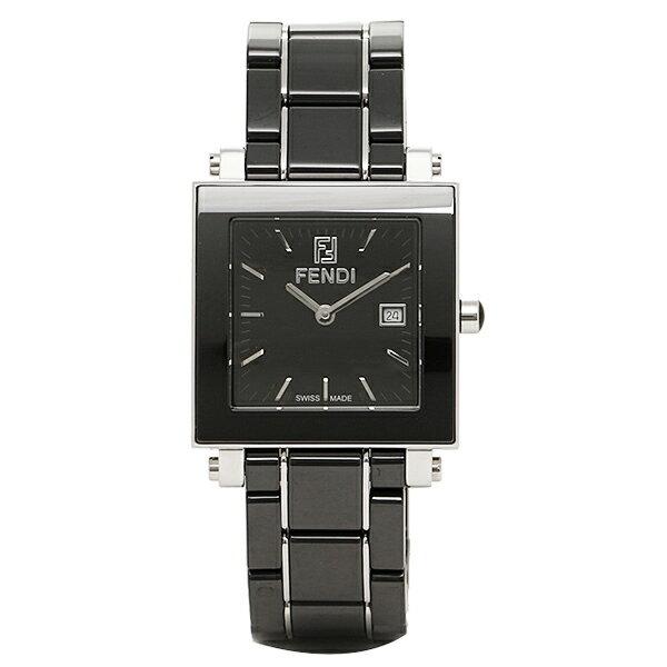 フェンディ 時計 レディース FENDI F621110 クアドロ 腕時計 ウォッチ ブラック