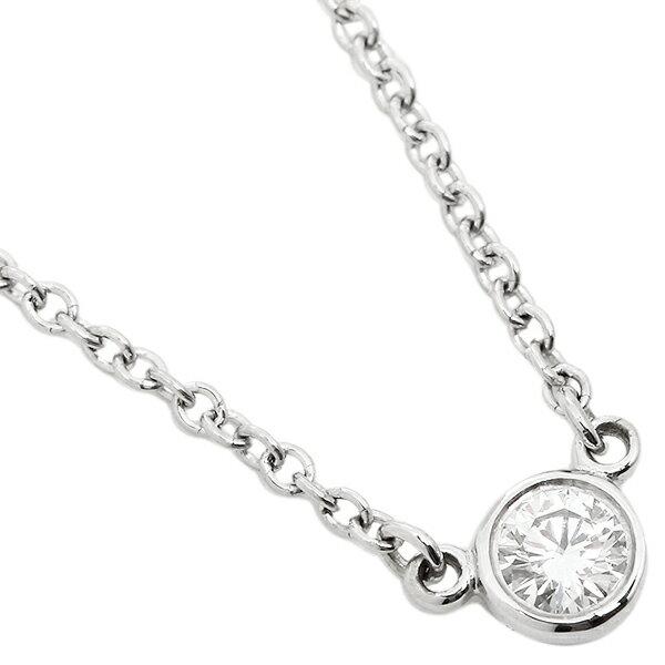 ティファニー ネックレス TIFFANY&Co. 12595816 エルサペレッティ ダイヤモンド バイザヤード 0.08ct 16IN PT ペンダント シルバー