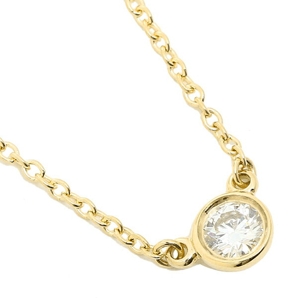 ティファニー ネックレス TIFFANY&Co. 24834239 18K ダイヤモンド バイザヤード 0.12ct 16IN 18YG ペンダント イエローゴールド