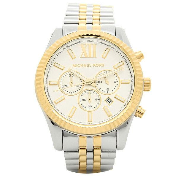 マイケルコース 時計 メンズ MICHAEL KORS MK8344 LEXINGTON レキシントン 腕時計 ウォッチ シルバー/ゴールド