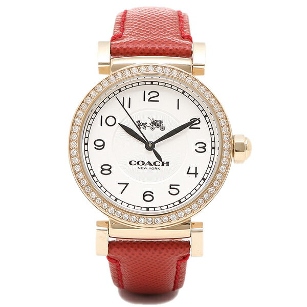 コーチ 時計 COACH 14502400 MADISON マディソン 腕時計 ウォッチ ゴールド/レッド