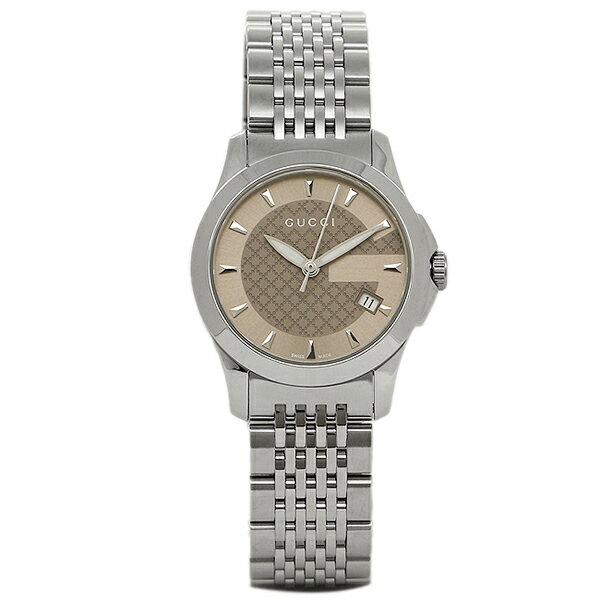 GUCCI グッチ YA126503 スモール バージョン Gタイムレス コレクション腕時計 レディースウォッチ シルバー/ブラウン/シルバー