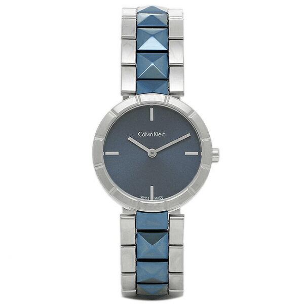 カルバンクライン 時計 CALVIN KLEIN K5T33T4N EDGE レディース腕時計ウォッチ シルバー/ブルー