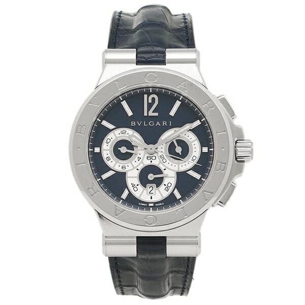BVLGARI 腕時計 ブルガリ DG42C3SLDCH ブルー シルバー