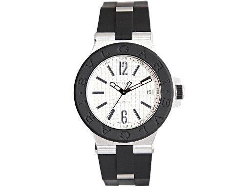 ブルガリ 時計 BVLGARI 腕時計 メンズ ディアゴノ ラバー オートマチック シルバー DG40C6SVD ウォッチ シリアル有