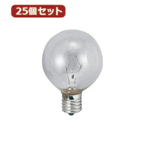 大特価販売 【ポイント20倍】YAZAWA 【25個セット】 ベビーボール球10WクリアE26 G602610CX25