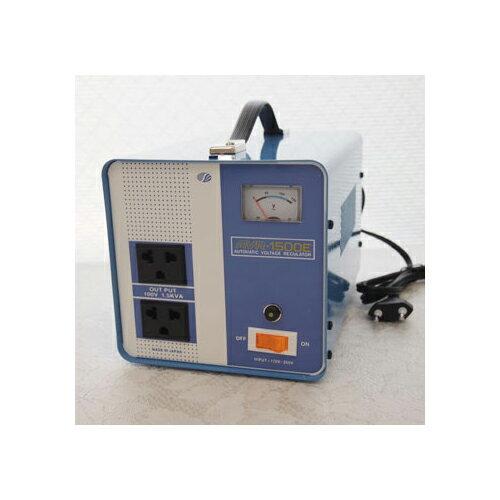 スワロー電機 【受注生産のため納期約2週間】電圧安定装置170~260V→100V 1500W AVR-1500E