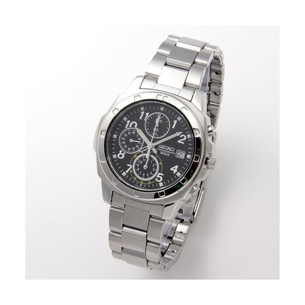 【ポイント20倍】SEIKO(セイコー) 腕時計 クロノグラフ SND195P ブラック/アラビア