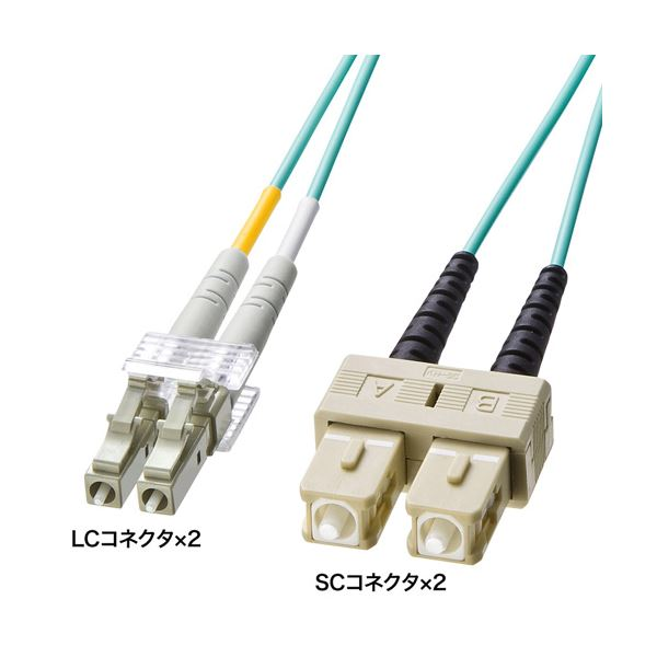 サンワサプライ OM3光ファイバケーブル HKB-OM3LCSC-03L