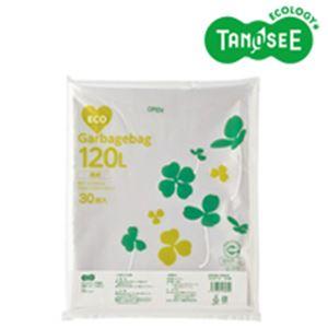 (まとめ)TANOSEE ポリエチレン収集袋 透明 120L 30枚入×6パック