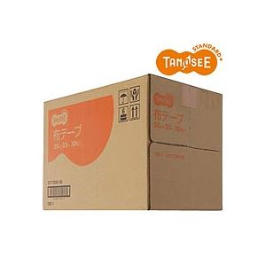 【ポイント20倍】(まとめ)TANOSEE 布テープ 50mm×25m 30巻