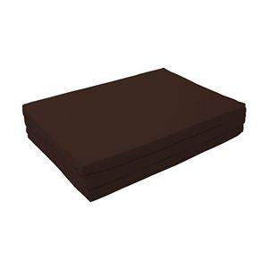 マットレス モカブラウン(仏=ブラウン) セミダブル 厚さ6cm 新20色 厚さが選べるバランス三つ折りマットレス【代引不可】
