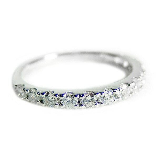 【鑑別書付】プラチナPT900 天然ダイヤリング 指輪 ダイヤ0.50ct 9号 ハーフエタニティリング