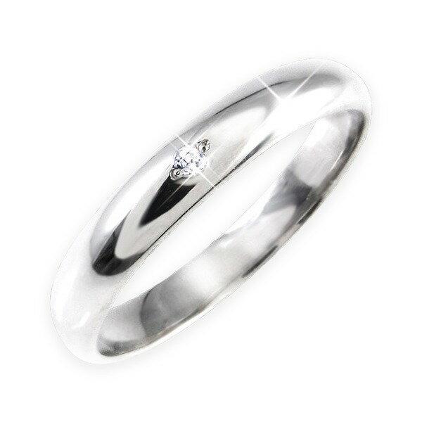 ダイヤリング 指輪 甲丸リング 7号