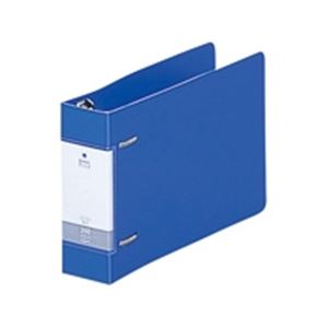 (業務用100セット) LIHITLAB D型リングファイル 【B6/2穴】 ヨコ型 G2233-8 46mm 青